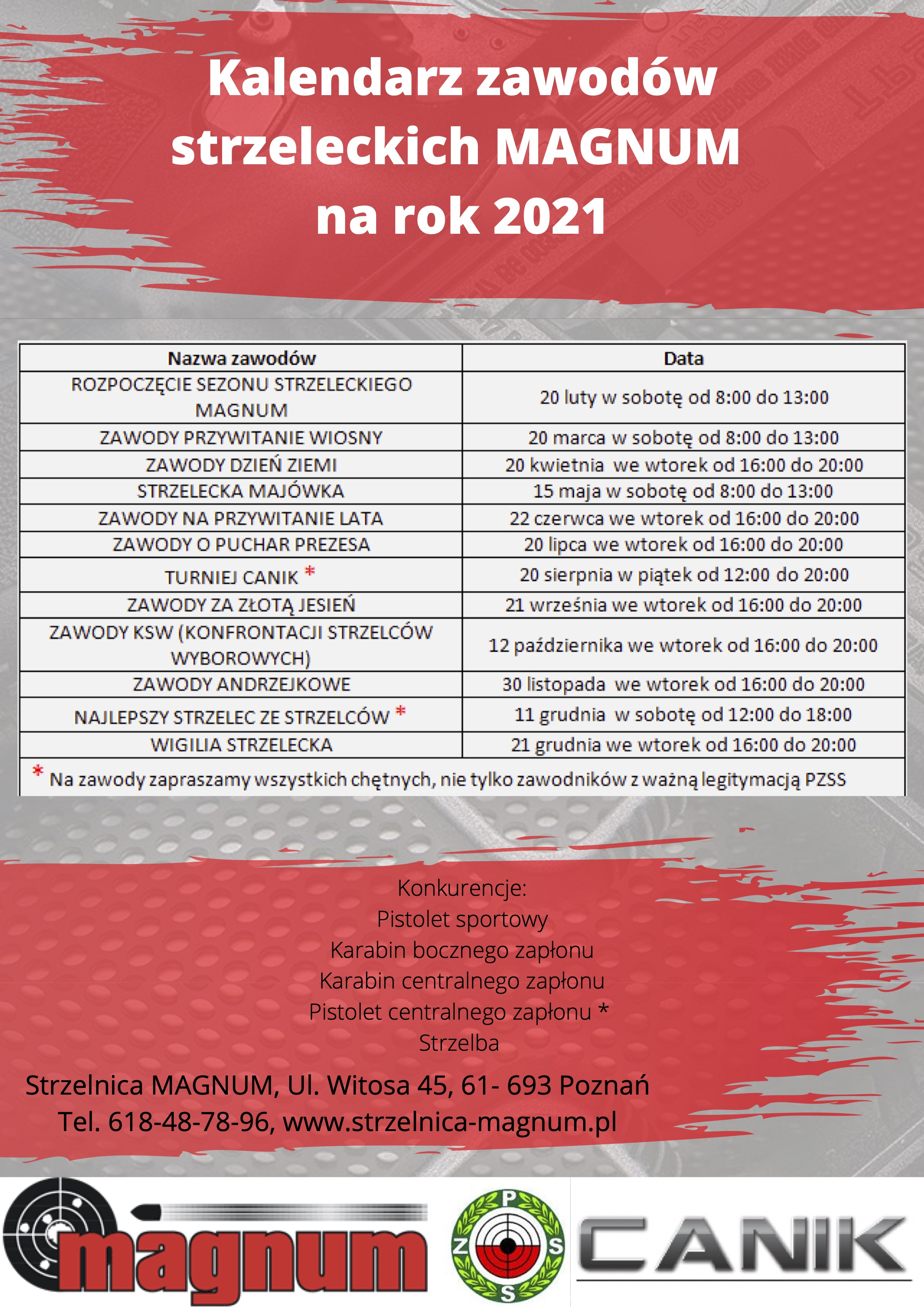 Kalendarz zawodów strzeleckich MAGNUM na rok 2020(1)